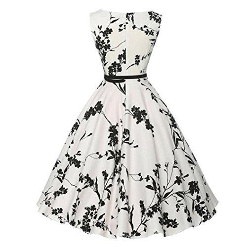 2018 Damen Gedrucktes Kleid ❤️SHOBDW Frauen Vintage Bodycon ...