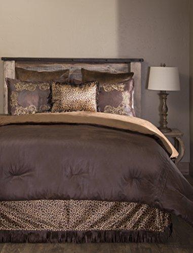 Carstens Gold Rush 5 Piece Comforter Bedding Set, King (Leather Bedding Set)