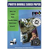 "PPD Inkjet Matt Double Sided Heavyweight Paper Legal 8.5 x 14"" 53lbs. 210gsm 9mil x 50 sheets (PPD134-50)"