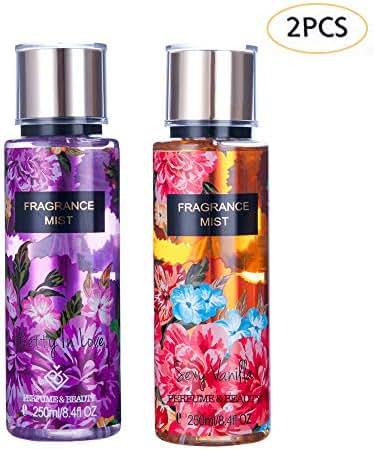 Perfume&Beauty Fragrance Mist 2PCS Body Mist Spray Fruit 8.5OZ Perfume For Body Room Office Bathroom