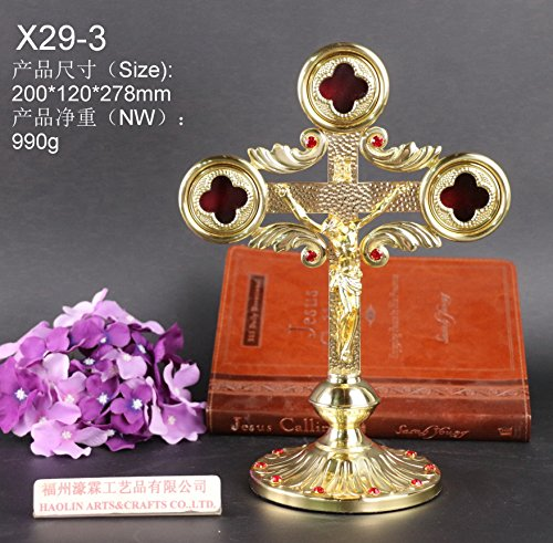 Brass Reliquary The Cross of Jesus Christ for Church or Home relic X29-3. Our Company Have 105 Kinds of Monstrance Reliquary for Your Choice. ()