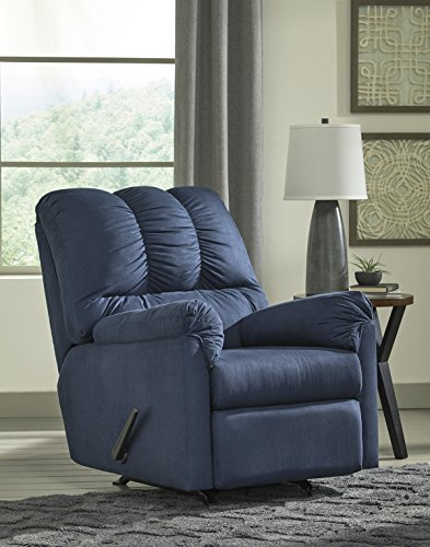 Darcy Contemporary Blue Color Microfiber Rocker Recliner Review
