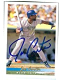 Joe Carter autographed baseball card (Toronto Blue Jays) 1993 Upper Deck #223