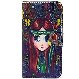 GJY Beautiful Eyes Pattern PU Leather Full Body Case with Card Slot and Stand for iPhone 5/5S