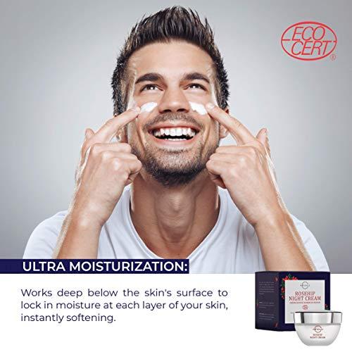 51uWZtiV7AL - O Naturals Organic Advanced-Repair Hydrating Rosehip Oil Night Face & Neck Cream. Face Moisturizer. Anti-Aging Moisturizes Dry Skin Anti-Wrinkles Reduce Scars Boost Collagen Vitamin E Non Greasy 1.7oz