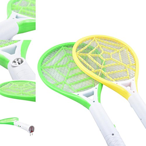 YJYdada Rechargeable LED Electric Fly Mosquito Swatter Bug Zapper Racket Insect Get Rid
