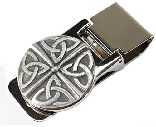 Golf Money Clips - Irish Trinity Money Clip Stainless Steel & Pewter