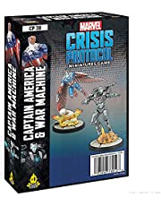 Marvel Crisis Protocol Captain America & War Machine Character Pack | Miniatures Strategy Game for Teens and Adults | Ages 14+ | 2 Players | Average Playtime 45 Minutes | Made by Atomic Mass Games