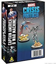Marvel Crisis: Protocol– Captain America & War Machine| Marvel Miniatures Game | Strategy Game for Teens a
