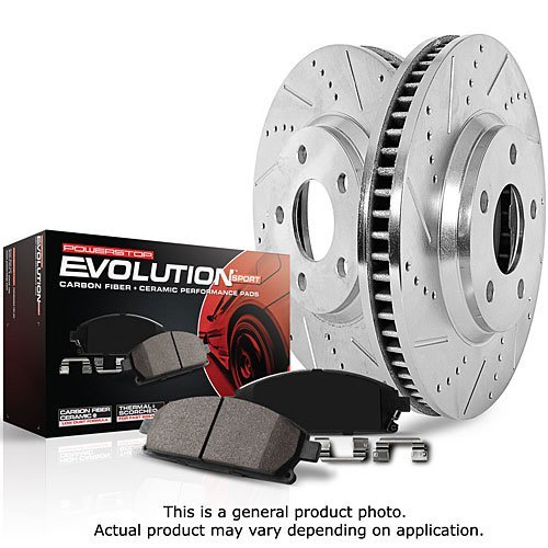 Power Stop K5377 Front Z23 Evolution Brake Kit with Drilled/Slotted Rotors and Ceramic Brake Pads by Power Stop