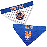 Pets First MET-3217-S-M MLB Dog Bandana - New York Mets Reversible Pet Bandana, Small/Medium, MLB Team Color