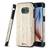 Galaxy S7 Case, B BELK [Air to Beat] Non Slip [Slim Matte] Wood Tactile Grip Rubber Bumper [Ultra Light] Soft TPU Back Cover, Premium Smooth Wooden Shell for Galaxy S7