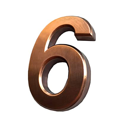 1 Pcs Door Number Sticker 6/9 Address Numbers for Mailbox Apartment Room  House Bronze & Silver 2-3/4 inch High (2.75\