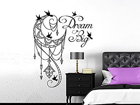 Dream Big Wall Decal Moon Arrows Birds Vinyl Sticker Decals ...