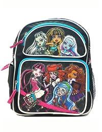 Full Size Black, Blue, and Pink Monster High Backpack - Monster High Bookbag