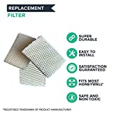 4 Replacements for Honeywell HCM-525 Humidifier Wick Filters, Compatible With Part # AC-813, D13-C & D-13, by Think Crucial