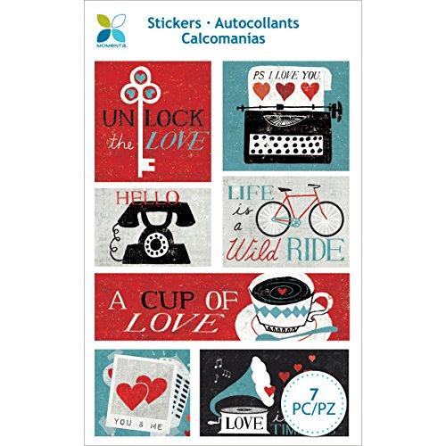 Momenta 25550 Cup of Love Foam Stickers, Multicolor