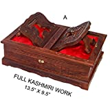 Holy foldable Book Stand Wooden Handcarved Rehal Box For Quran,Bible,Gita,Gurugranth , , Christmas or Valentine's Day Gift by Affaires W-40170