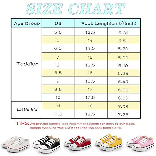 Meckior Unsix Kids Boys Girls Canvas High Top Gym Shoes Trainers Sneakers(Toddler/Little Kid/Big Kid)