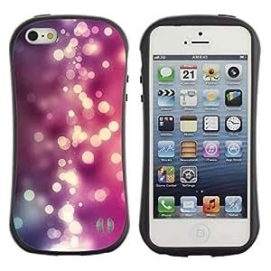 Suave TPU GEL Carcasa Funda Silicona Blando Estuche Caso de protección (para) Apple Iphone 5 / 5S / CECELL Phone case / / Purple Pink Shiny Water /