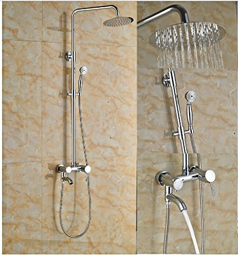 Gowe Newly Coming 8-in Chorme Polish Shower Set Bathroom Wall Mounted Single Handle Mixer Faucet 1