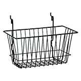 KC Store Fixtures A03009 Basket Fits Slatwall, Grid, Pegboard, 12