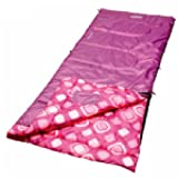 Coleman Girls Youth Rectangle Sleeping Bag Pink/White Dots 2000014155