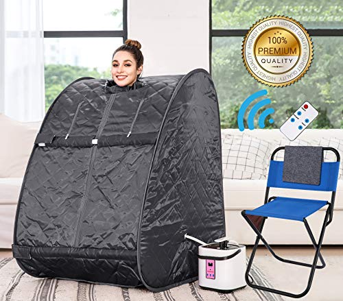 Himimi 2L Foldable Steam Sauna Portable Indoor Home Spa Weight Loss Detox with Chair Remote New