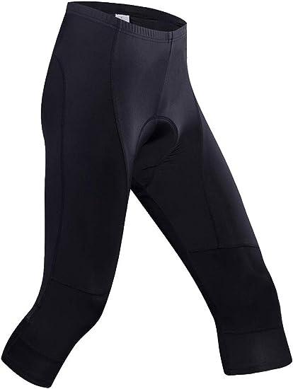 ZHENGKE Bike Pants Women with Padding Breathable 3//4 Cycling Tights Biking Capri Leggings Black