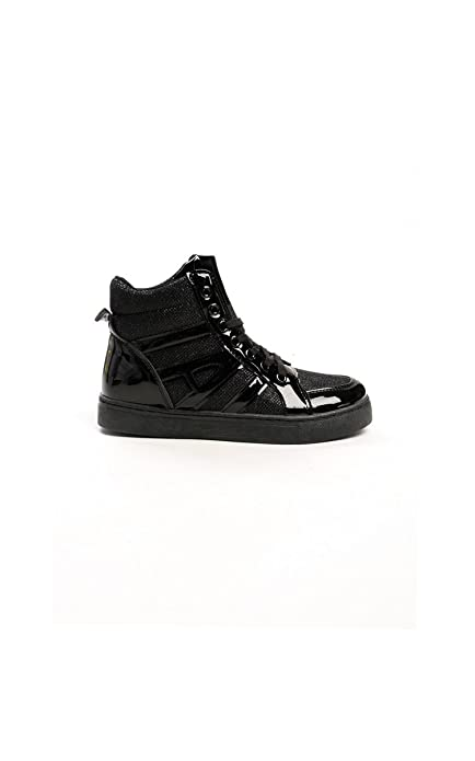 Ikrush Donna Chicago Metallic High Top Trainers     Scarpe