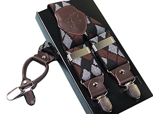 in shape Elastic 4 Colore regolabile Suspender Y Clips 2 Ahatech completamente Man pelle p4wq0ZW4S
