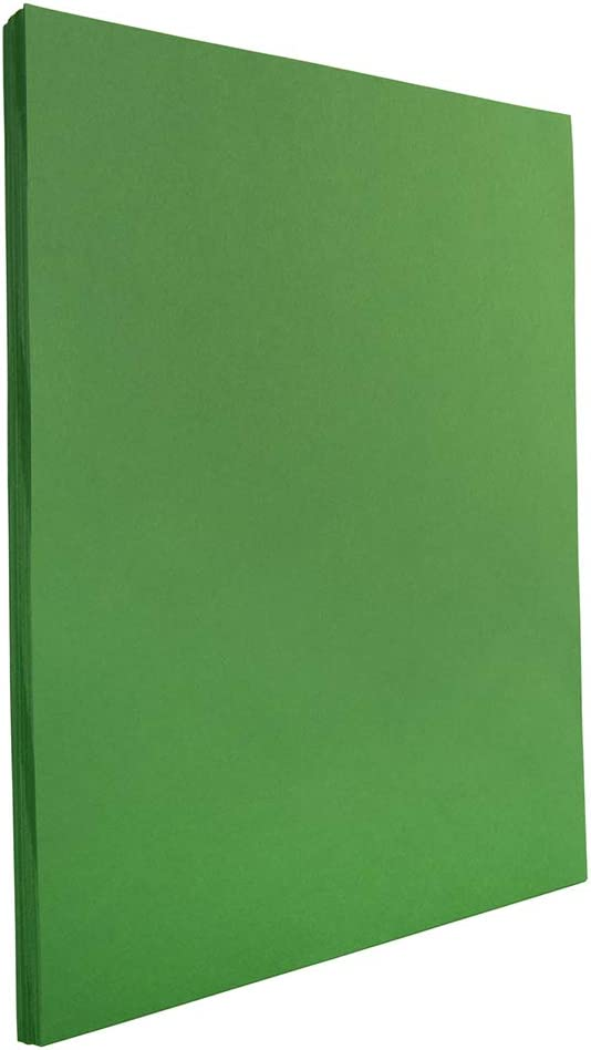 JAM PAPER Colored 24lb Paper - 8.5 x 11 - Green Recycled - 100 Sheets/Pack