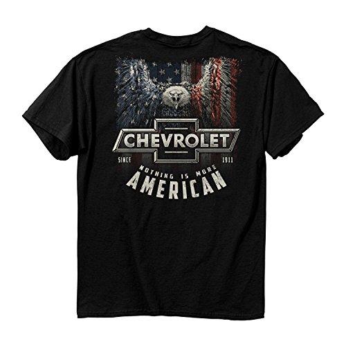 Price comparison product image Men's Chevy More American Cotton T-Shirt,  Black,  2X