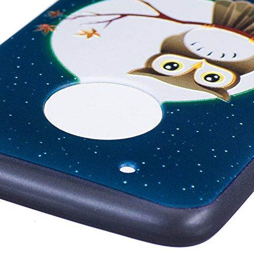 Funda Moto G5 Plus, CaseLover Negro Suave Silicona TPU Carcasa para Lenovo Motorola Moto G5 Plus Ultra Delgado Flexible Gel Protectora Tapa Anti-Arañazos Movil Celular Cubierta Ligero Caja Anti-Rasguñ Búho y luna