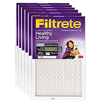 Nordic Pure 12x12x1 MPR 1500 Healthy Living Ultra Allergen Reduction Replacement AC Furnace Air Filters 6 Pack