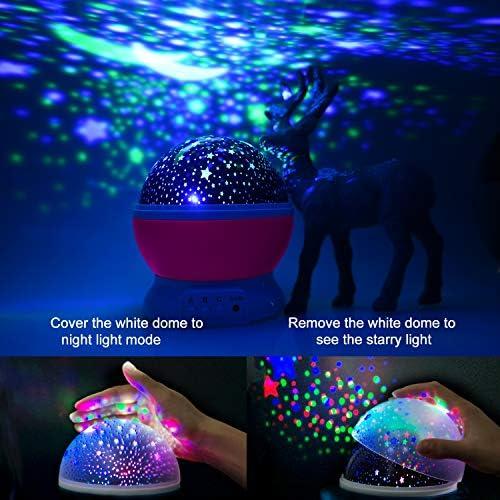 Amazon.com: Proyector de luz nocturna de estrella, luces de ...