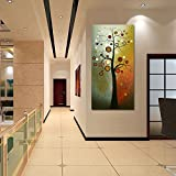 Wieco Art Life Tree Large Vertical Wall Art Modern
