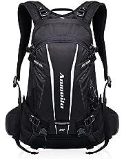 GemCoo Fahrradrucksack 20L Multifunktionaler Wanderrucksack Wasserdicht mit Regen Cover Helm für Sport Reiten Reisen Camping (Grün
