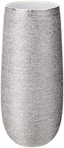 Torre Tagus Brava Spun Textured Metallic Silver Vase