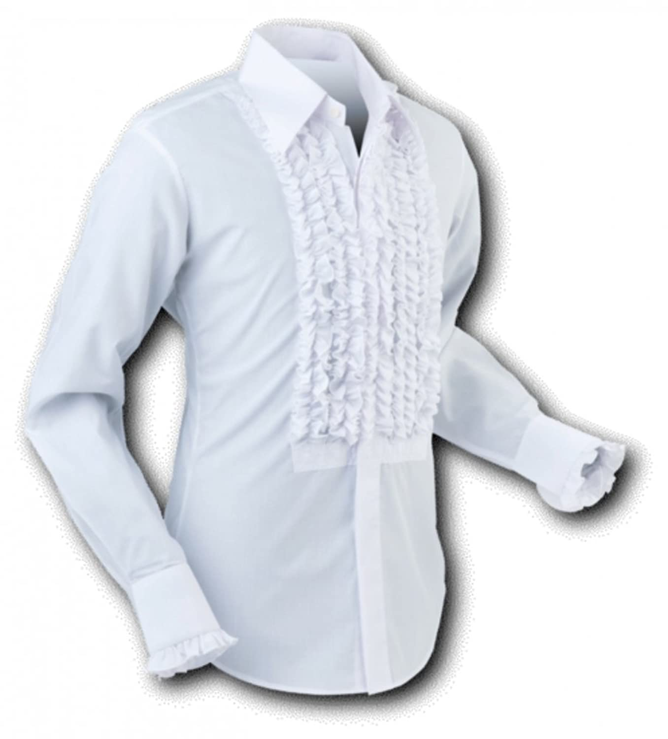 1960s Inspired Fashion: Recreate the Look 70s retro frilled shirt white-white £39.90 AT vintagedancer.com