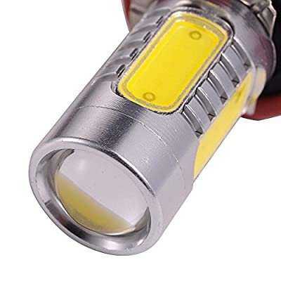 ATMOMO 2 PCS Car H8 H11 33-SMD LED Xenon Head Light Headlight Bulbs Lamp or Daytime Running Lights Lighting DRL 12V 7.5W - Yellow: Automotive