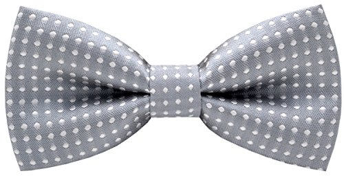 (Carahere Handmade Little Boy's Bow Ties M012 Gray )