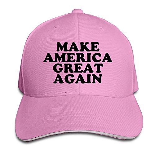 NUBIA Make America Great Again Sandwich Peak Cap Flex Fit Hat Pink