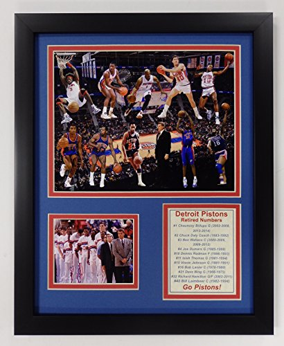 Legends Never Die NBA Detroit Pistons Bad Boys Double Matted Photo Frame, 12'' x 15'' by Legends Never Die