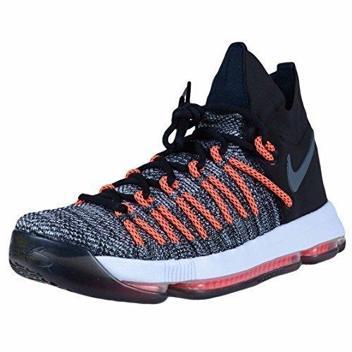 NIKE Zoom KD9 Elite Mens Basketball-Shoes 878637-010_10 - Black/White-Dark Grey-Hyper Orange