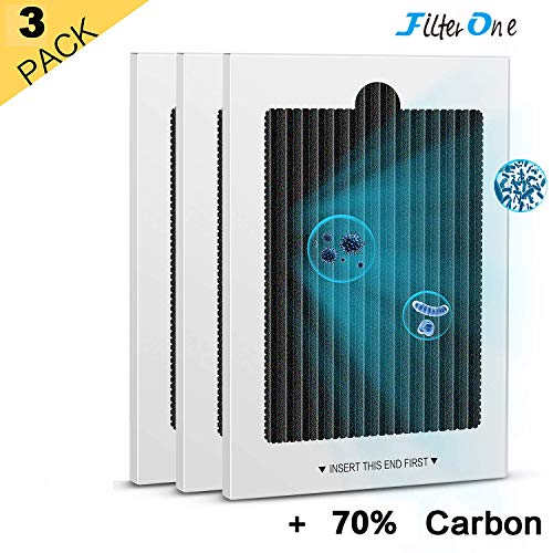 Refrigerator Air Filters Replacement - FitlerOne air filter for Pure Air Ultra Refrigerator Air Filters, Compatible With PAULTRA, Electrolux EAFCBF, PureAir Ultra 242061001, 241754001 (3 Pack)