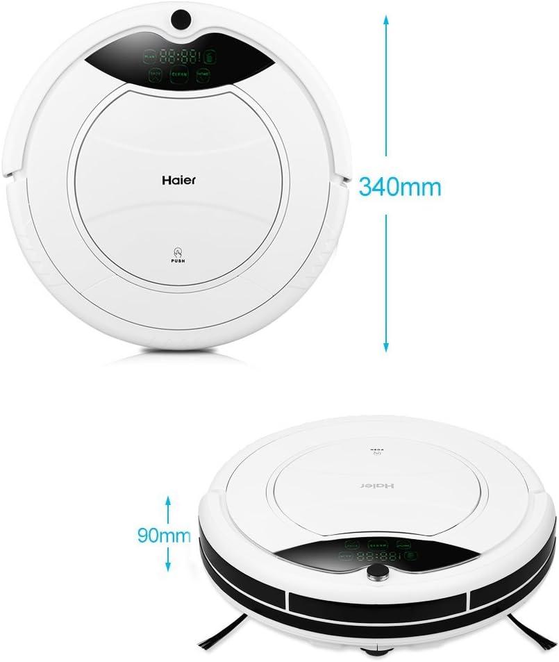 Haier T320 - Robot Aspirador 90 Min (120M² Cobertura de Limpiar, 180Ml Tanque de Agua, Diámetro 34Cm, Escalada 25º), Blanco: Amazon.es: Hogar