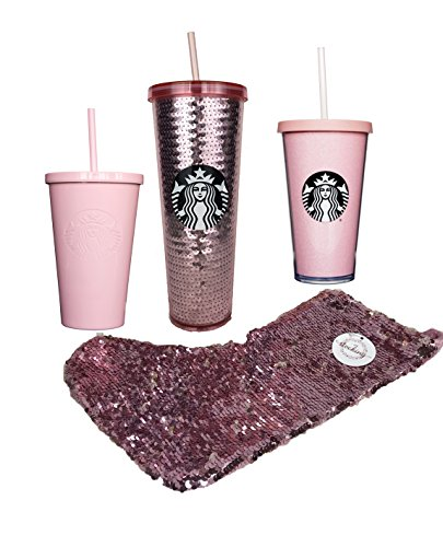 Starbucks Coffee Pink Rose Gold Holiday Gift Bundle