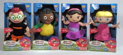 Complete set of 4 Little Einsteins Classical Talking Singing Friend Leo, Quincy, June and -
