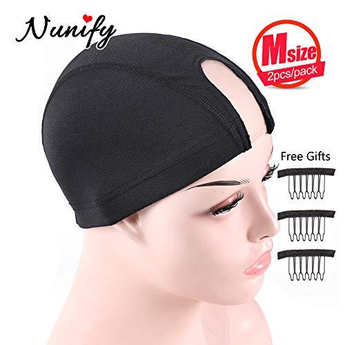 Nunify 2Pcs/Pack Wig Caps For Making Wigs M Size Weaving Cap Weave Cap For Making A Wig U Part Wig Cap Lace Hair Nets Spandex Mesh Dome Cap (Best Weaving Cap For U Part Wig)